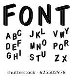 isometric letters. black 3d... | Shutterstock .eps vector #625502978