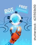 chat bot free robot virtual... | Shutterstock .eps vector #625503650