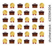 stickers badge ribbon suitcase | Shutterstock .eps vector #625504304