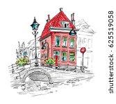 vector color scenic city view... | Shutterstock .eps vector #625519058