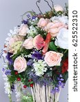 bouquet of pink white many kind ...   Shutterstock . vector #625522310