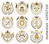 vintage heraldic coat of arms... | Shutterstock . vector #625527110