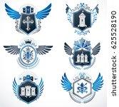 set of  vintage emblems created ... | Shutterstock . vector #625528190