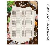 sukiyaki shabu objects menu  | Shutterstock .eps vector #625528340
