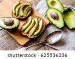 making sandwiches with avocado... | Shutterstock . vector #625536236