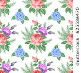 seamless pattern with roses and ...   Shutterstock .eps vector #625536470