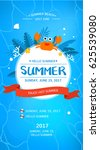 cool summer sea and beach   Shutterstock .eps vector #625539080