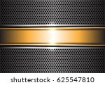 abstract gold banner on metal... | Shutterstock .eps vector #625547810