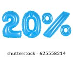 twenty 20 percent from blue... | Shutterstock . vector #625558214