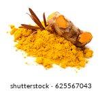 turmeric roots and turmeric... | Shutterstock . vector #625567043