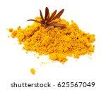 root turmeric and turmeric... | Shutterstock . vector #625567049