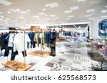 store in the mall blurred. ... | Shutterstock . vector #625568573