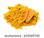 turmeric powder isolated on... | Shutterstock . vector #625569740