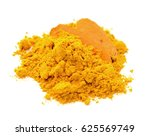turmeric powder isolated on... | Shutterstock . vector #625569749