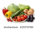 vegetable set | Shutterstock . vector #625570784