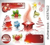 vector holiday collection for a ...   Shutterstock .eps vector #62557612