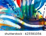 abstract watercolor texture.... | Shutterstock . vector #625581056
