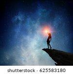 businesswoman against starry... | Shutterstock . vector #625583180