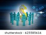 3d illustration of people... | Shutterstock . vector #625585616