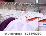 medical uniform on a hangers in ...   Shutterstock . vector #625590290