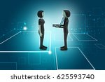 3d illustration of  people make ...   Shutterstock . vector #625593740