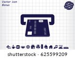 inserting credit card icon...   Shutterstock .eps vector #625599209