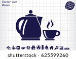 kettle cup icon vector... | Shutterstock .eps vector #625599260
