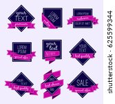 set of vector badges and labels.... | Shutterstock .eps vector #625599344