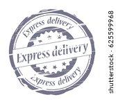 express delivery grunge stamp   ...   Shutterstock .eps vector #625599968