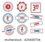 set of various 3rd  third ... | Shutterstock .eps vector #625600736