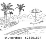 swimming pool graphic black... | Shutterstock .eps vector #625601834