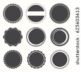 blank round stamps for logo ... | Shutterstock .eps vector #625603613