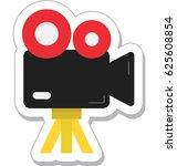 video camera vector icon  | Shutterstock .eps vector #625608854