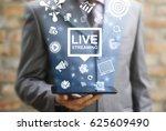 live streaming social media web ... | Shutterstock . vector #625609490