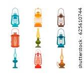 Set Of Vintage Oil Lamps....