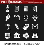 theater vector icons for user... | Shutterstock .eps vector #625618730