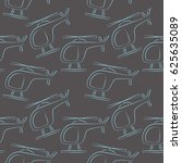 seamless travel pattern.... | Shutterstock .eps vector #625635089