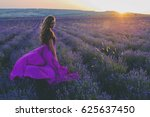 Girl In A Dress In Lavender