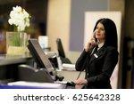 hotel receptionist. modern... | Shutterstock . vector #625642328