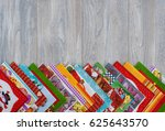 paper napkins are stacked at... | Shutterstock . vector #625643570