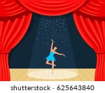 cartoon theater. a theatrical...   Shutterstock .eps vector #625643840