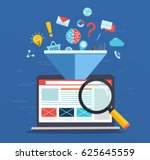 web site optimization ... | Shutterstock .eps vector #625645559