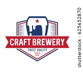 craft brewery logo symbol. icon | Shutterstock .eps vector #625652870
