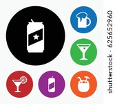 set of 6 alcohol filled icons...