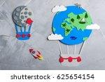 Paper Craft Earth Globe Moon ...
