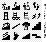 step icons set. set of 16 step... | Shutterstock .eps vector #625671260