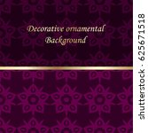 luxury colored ornamental... | Shutterstock .eps vector #625671518
