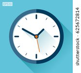 clock icon in flat style  timer ... | Shutterstock .eps vector #625672814