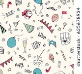seamless pattern  birthday... | Shutterstock .eps vector #625678934
