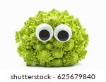 Green Cauliflower With Googly...